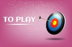 Play dart game illustration design.Sport target win concept. Business success symbol royalty free illustration