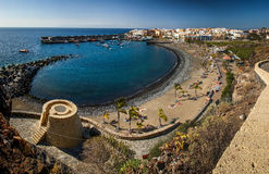 Play de San Juan in Tenerife, Canary Islands, Spain. Play de San Juan is nice small beach in Tenerife, Canary Islands, Spain royalty free stock photos