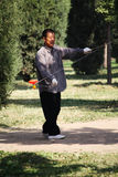 Play diabolo. Beijing tiantan Park person Diabolo Royalty Free Stock Photo