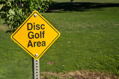 We play disc golf here Royalty Free Stock Photography