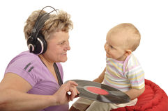 Play with dj grandma Stock Photography