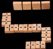 Play dominoes. stock image