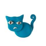 Play dough animal. Cat bad mood Royalty Free Stock Photos