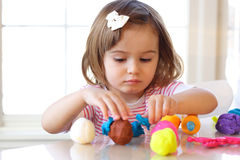Play dough game Royalty Free Stock Photos
