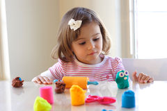Play dough game Stock Image