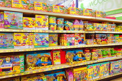 Play Dough Toys. Play Dough selection at a Toys R Us store in Toronto, Canada Royalty Free Stock Photo