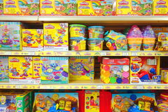 Play Dough Toys. Play Dough selection at a Toys R Us store in Toronto, Canada Stock Photo