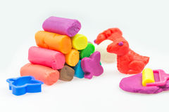 Play dough. On white Background Stock Images
