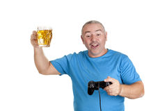 Play and drink Royalty Free Stock Photo