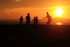 Play at dusk Royalty Free Stock Photos