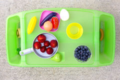 Play and Eat Time Tray Royalty Free Stock Images