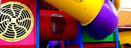 Play Equipment Abstract. Abstract photograph featuring childrens play equipment at a fast food restaurant (Adelaide, Australia royalty free stock photo