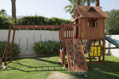 Play Equipment In Backyard Royalty Free Stock Photos