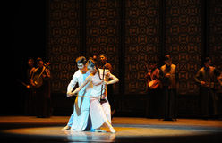 Play the erhu-The prelude of dance drama-Shawan events of the past. Guangdong Shawan Town is the hometown of ballet music, the past focuses on the historical Royalty Free Stock Image