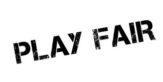 Play Fair rubber stamp stock illustration