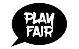 Play fair stamp on white royalty free illustration