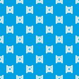 Play film strip pattern vector seamless blue. Repeat for any use Royalty Free Stock Photos