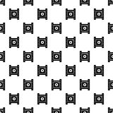 Play film strip pattern vector seamless. Repeating for any web design Stock Image