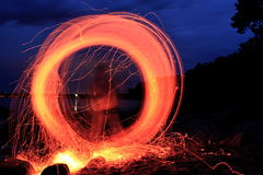 Play with fire Stock Photography