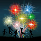 Play Fireworks Indicates Celebrate Festive And Children Stock Photo