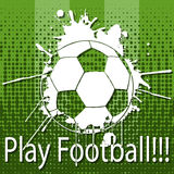 Play Football. Illustration play football as a football background Royalty Free Stock Photos