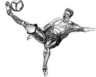 Play football sketch Royalty Free Stock Images