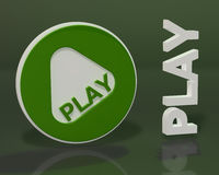 Play form on dark green background Stock Images