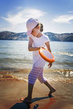 Play Frisbee Stock Images