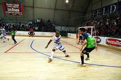 Play futsal. A action of the italian futsal match feldi eboli vs acqua & sapone Stock Images