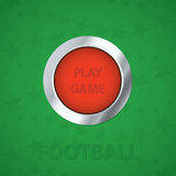 Play game detailed button. Vector illustration. Play game detailed button. Vector illustration football, soccer Stock Photos