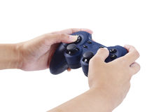 Play game with a joystick Stock Photo