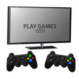 Play games console with two joystick Stock Image