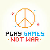 Play games not war Royalty Free Stock Images