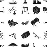 Play garden pattern icons in black style. Big collection of play garden vector symbol stock illustration. Play garden pattern icons in black style. Big Stock Images