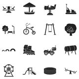 Play garden set icons in black style. Big collection play garden vector symbol stock illustration Royalty Free Stock Photo
