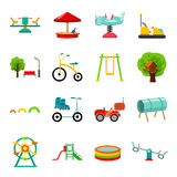 Play garden set icons in cartoon style. Big collection of play garden vector illustration symbol. Play garden set icons in cartoon style. Big collection of play Royalty Free Stock Images
