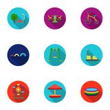 Play garden set icons in flat style. Big collection of play garden vector symbol  Royalty Free Stock Image