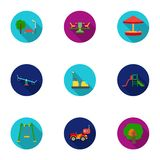 Play garden set icons in flat style. Big collection of play garden vector symbol stock illustration Royalty Free Stock Photos