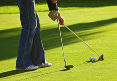 Play golf Royalty Free Stock Photos