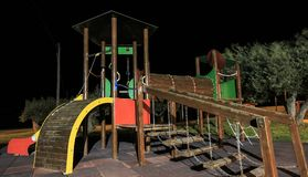Play ground photo in the night.  Stock Photo