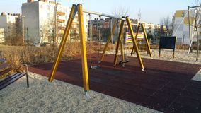 Play Ground. Swing in Playground Royalty Free Stock Photography