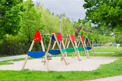 Play ground swings Royalty Free Stock Photography