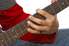 Play guitar Royalty Free Stock Images
