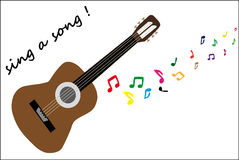 Play the guitar Royalty Free Stock Photography