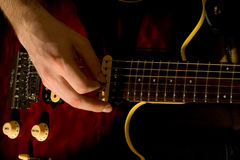 Play on the guitar Royalty Free Stock Photo