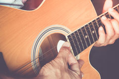 Play guitar Royalty Free Stock Photos