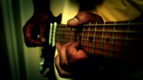 Play guitar  music Stock Images