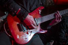 Guitar guitarist concert metal chords Stock Image