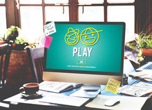 Play Happiness Amusement Activity Concept Stock Image