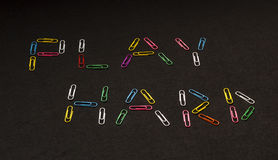 Play Hard. With Colourful Paper Clips Royalty Free Stock Photography